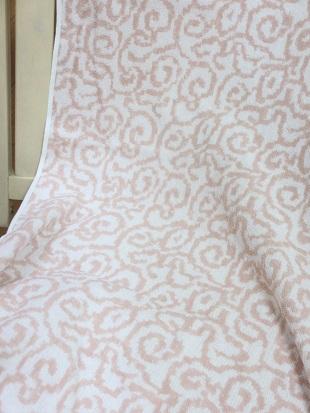 紋織タオル全体ピンク