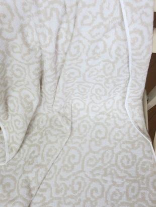 紋織タオル全体ベージュ